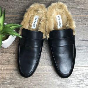 Steve Madden Kaden Mule Slip On Loafer Fur